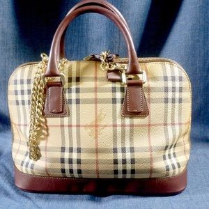 Auth Burberry tote bag vintage